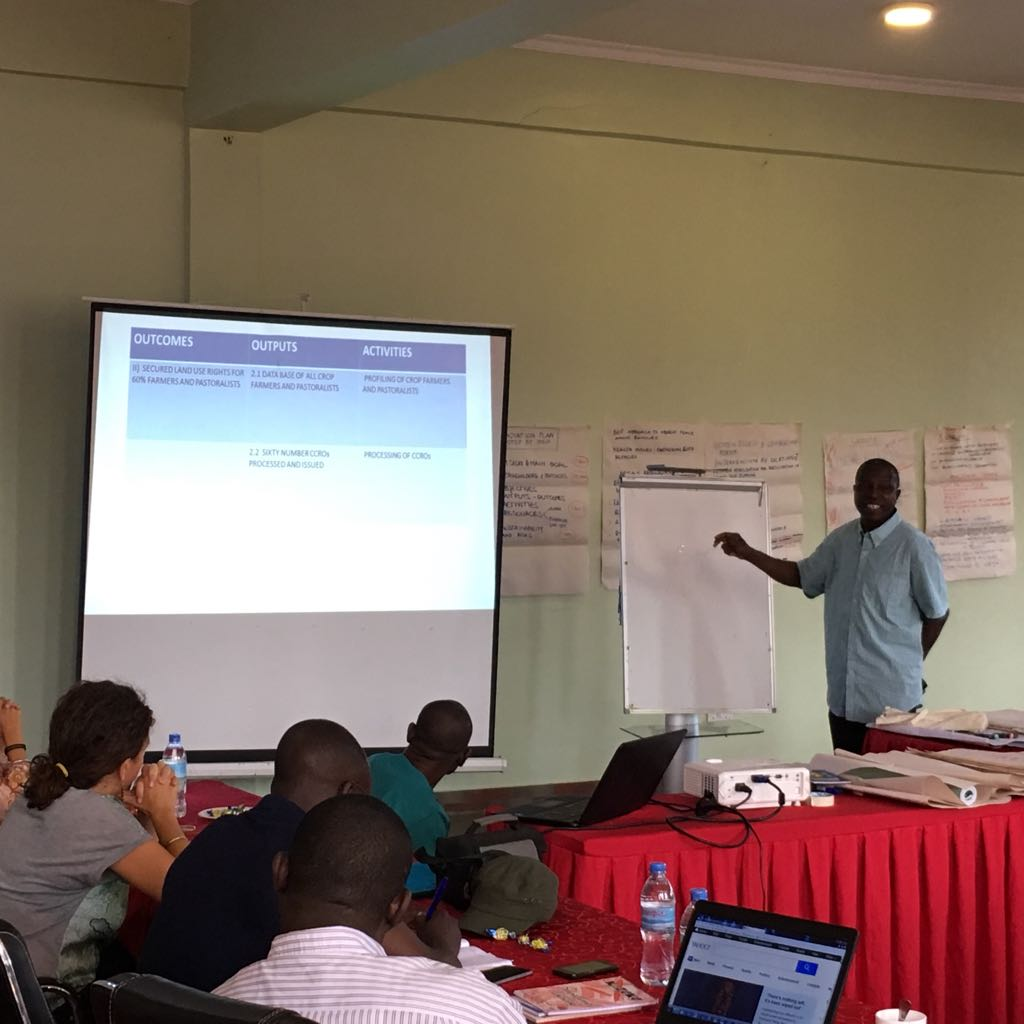 Participants presenting their innovation plans