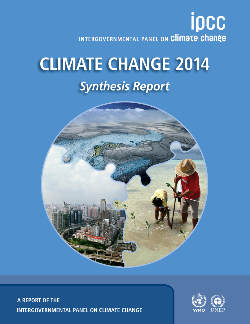 Climate Change 2014 Synthesis Report cover image