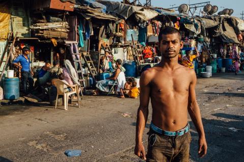slum dweller india land rights