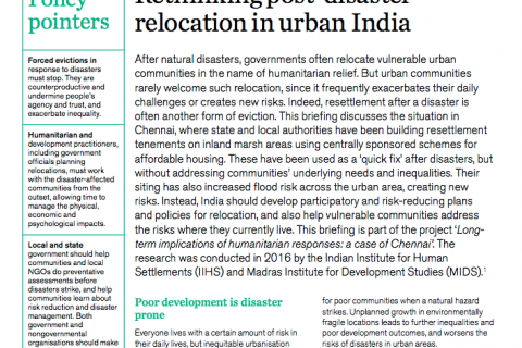 Rethinking post-disaster relocation in urban India cover image
