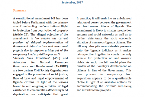 Overhaul of the right to protection from deprivation of property in Uganda cover image