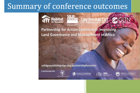 The Partnership for Action Conference: Summary of Conference Outcomes cover image