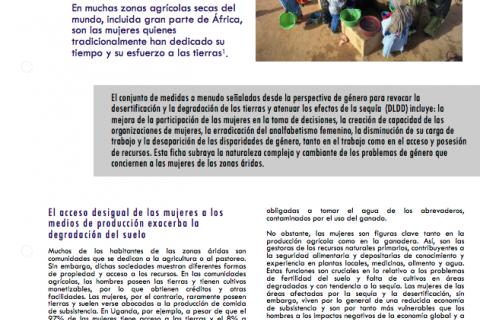 Género y desertificación cover image