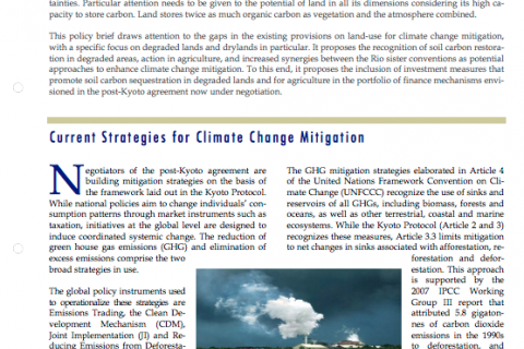 Land: a tool for climate change mitigation cover image