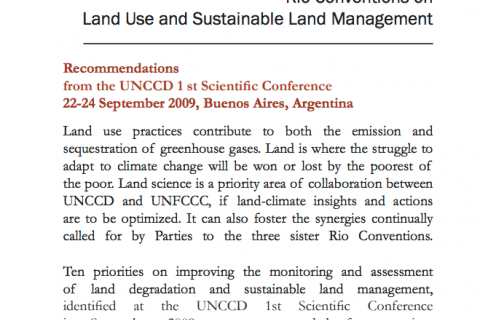 Land Matters: Enhancing Synergies among the Rio Conventions on Land Use and Sustainable Land Management cover image