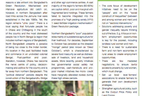 Poverty-gender-agriculture nexus in the northern region of Bangladesh: Challenges and Opportunities cover image