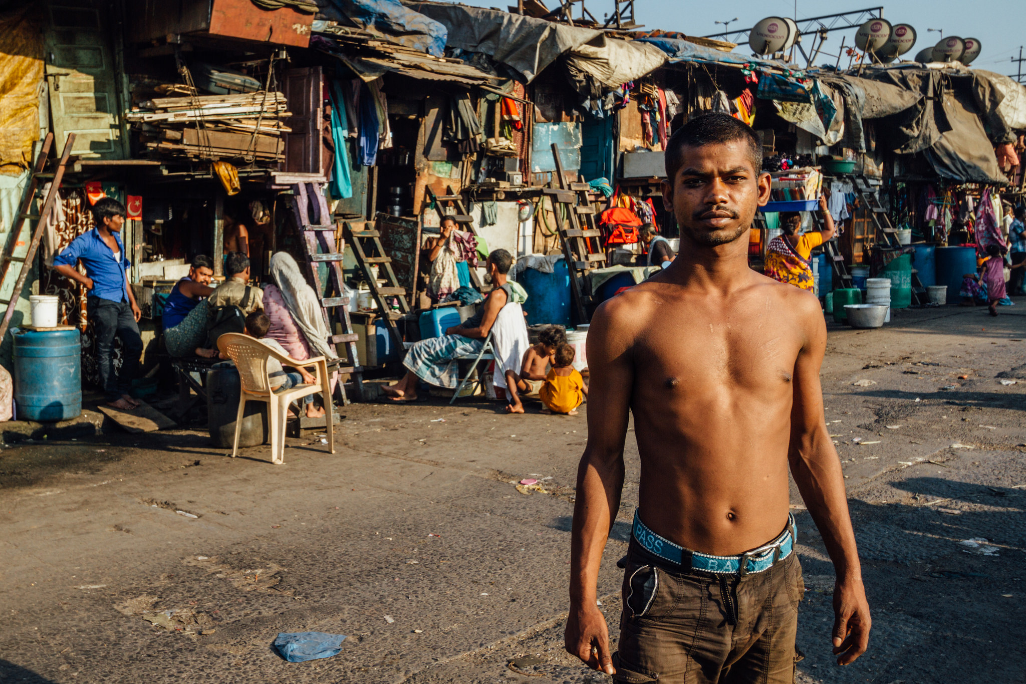 slum dweller india land rights