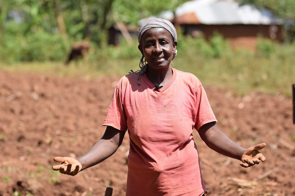 IRENE NYANGASI, RURAL WOMAN IN KENYA WHO NEEDS HELP TO SECURE HER LAND CAN NOT BE REACHED