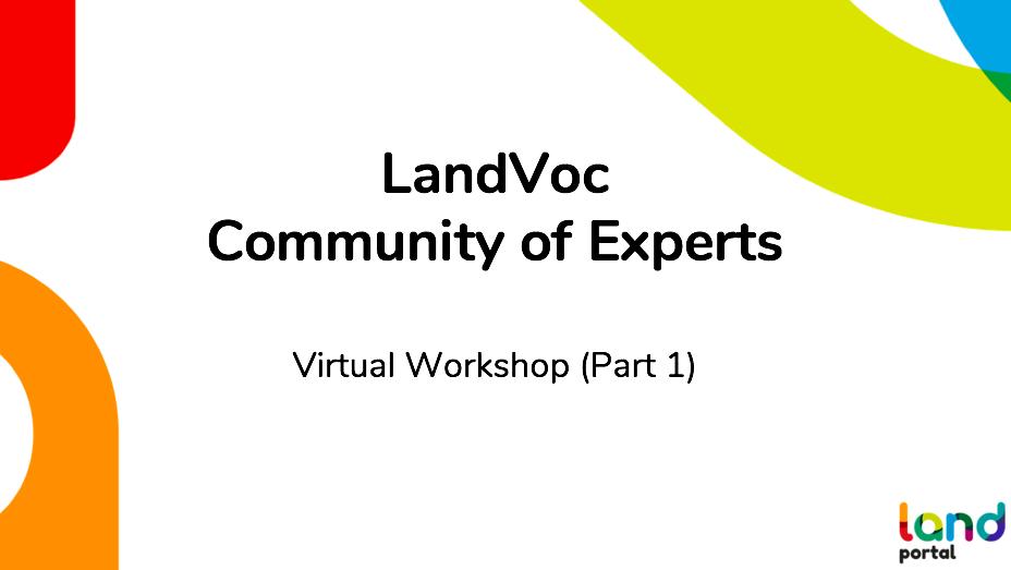 LandVoc Community of Experts