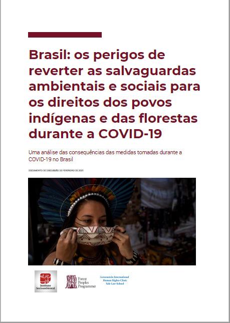 Brasil: os perigos de reverter as salvaguardas ambientais e sociais para os direitos dos povos indígenas e das florestas durante a COVID-19