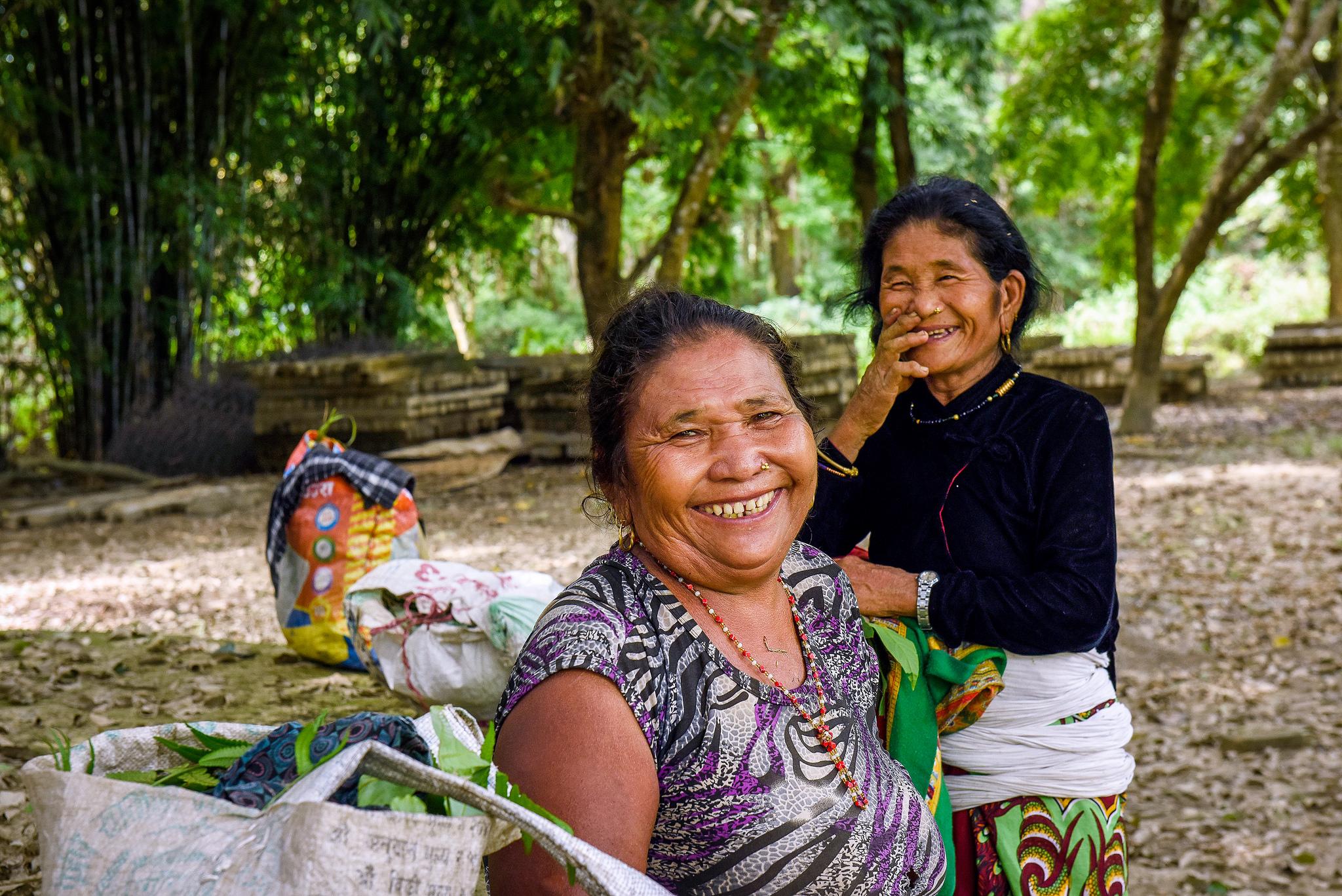 Local women at the Baghamra community forest.    Photo by Chandra Shekhar Karki/CIFOR