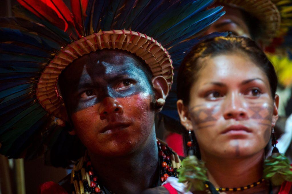 Indígena da etnia Bororo Boé, no Brasil. Foto: Agência Brasil/Marcelo Camargo