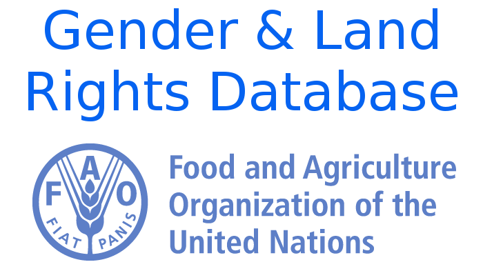 FAO Gender and Land Rights Database