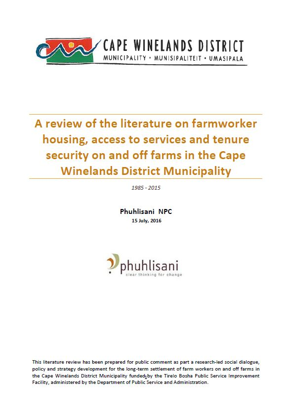 Farmworker literature review