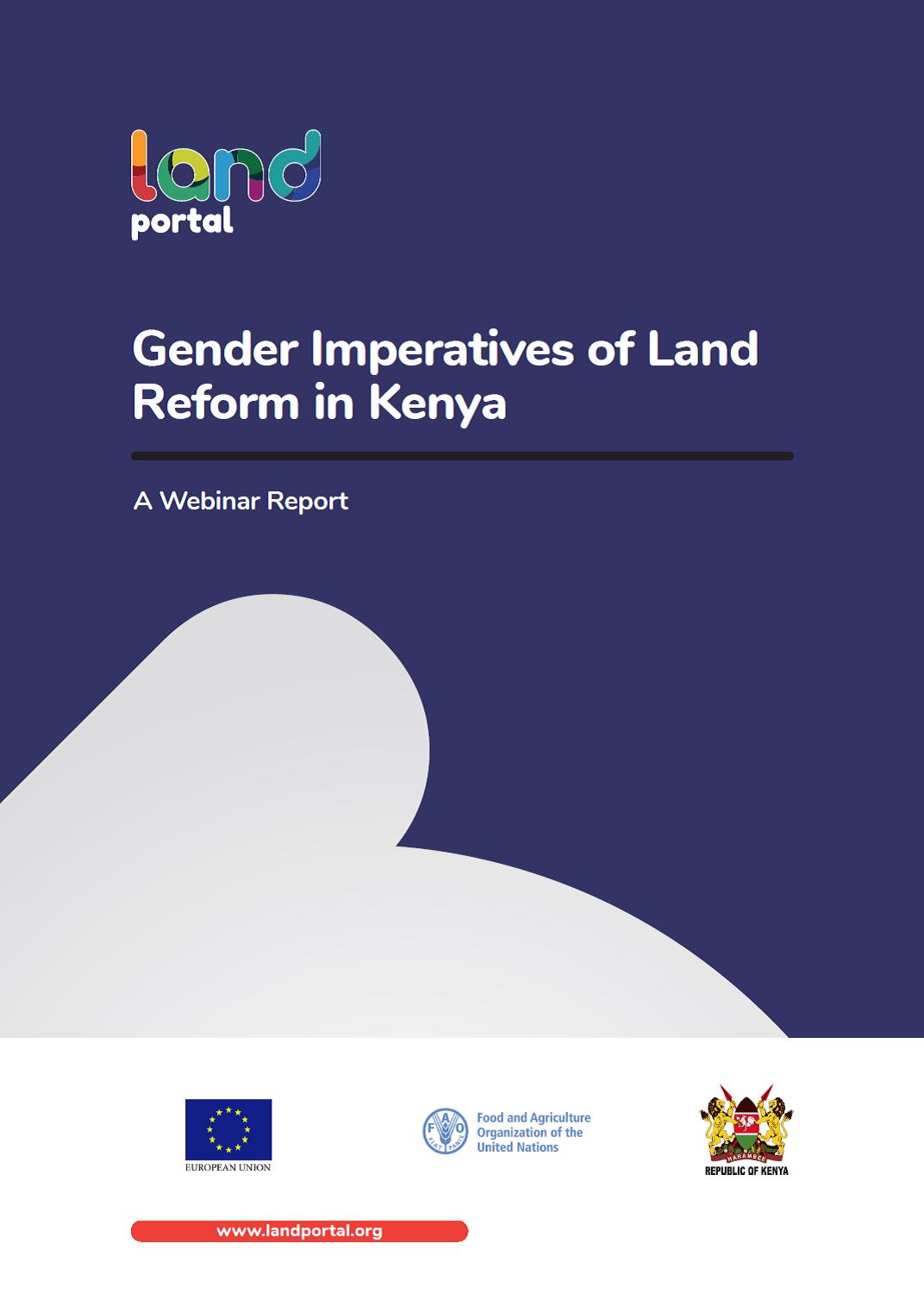 Gender Imperatives of Land Reform in Kenya