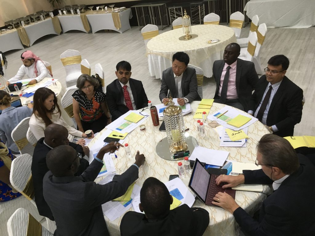 Group discussion during the training of NSOs measuring indicators 1.4.2 and 5.a.1, Dubai, Octo 2018 – organized by custodians – UN-Habitat, World Bank and FAO. Photo credit – GLTN/UN-Habitat.