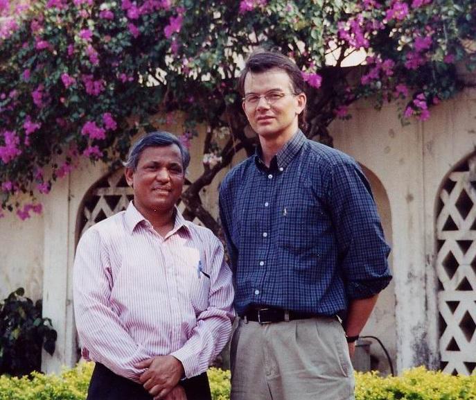 Tim Hanstad and Dr. T. Haque