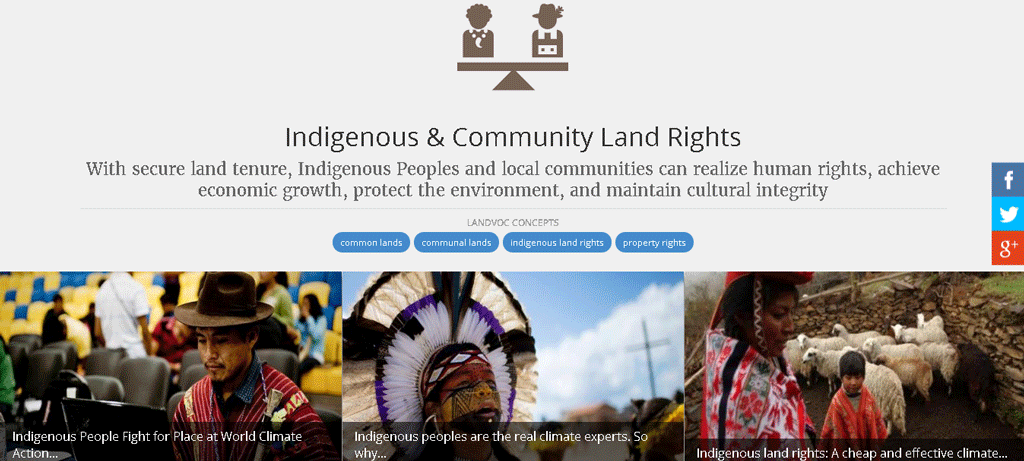Indigenous and community land rights