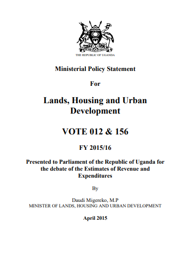 Lands, Housing and Urban Development