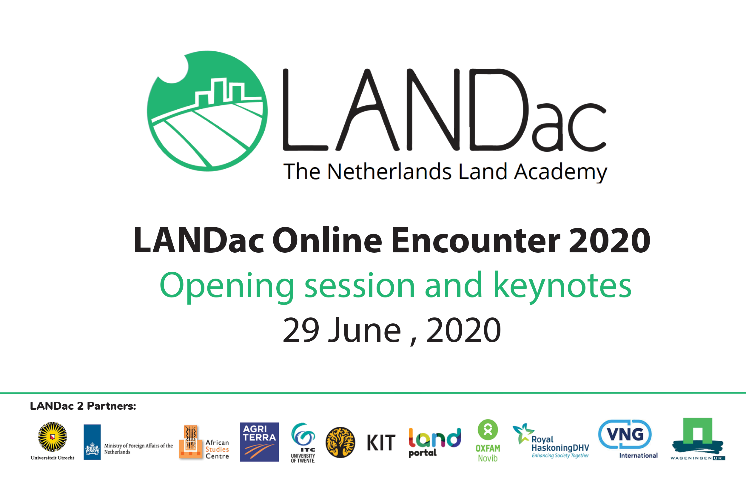 LANDac Online Encounter 2020: Opening Session and Keynote Speeches