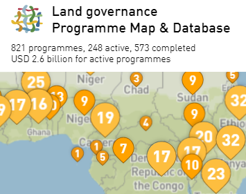 Map of Donors (Land governance Programme Map)