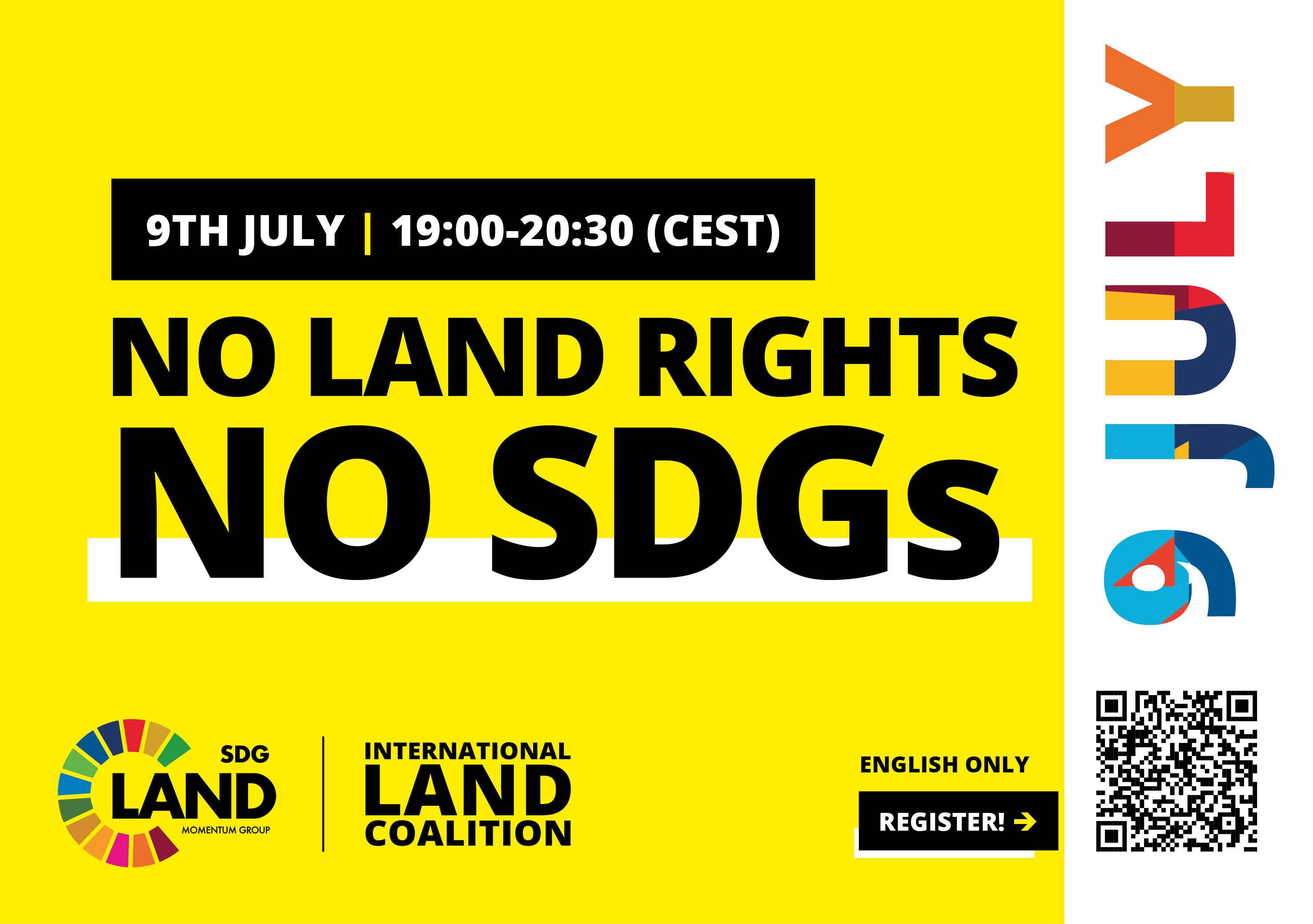 No Land Rights - No SDGS