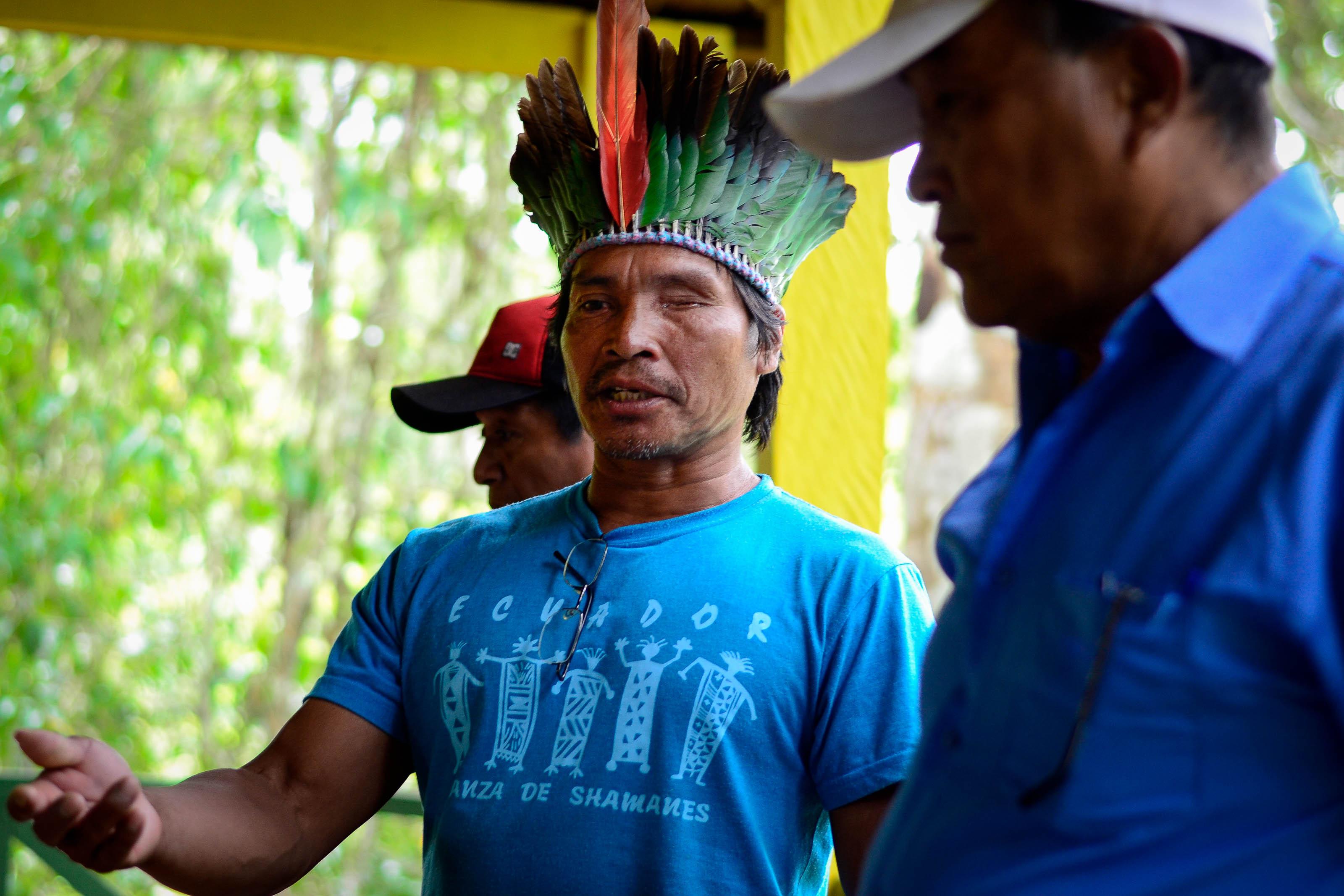 Rosildo da Silva, indígena Jaminawa Arara, vai à CIDH denunciar a demora nas demarcações de terras no Acre. foto: Tiago Miotto/Cimi