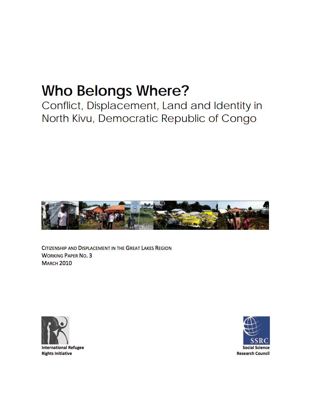 Who Belongs Where? Conflict, Displacement, Land and Identity in North Kivu, Democratic Republic of Congo cover image