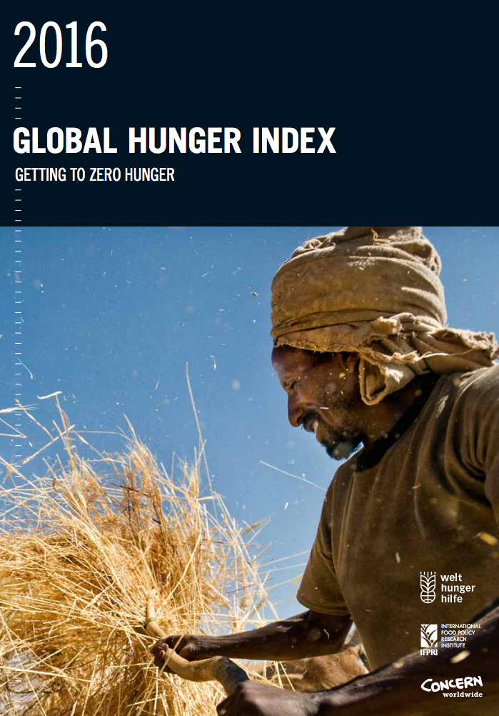 2016 Global hunger index: Getting to zero hunger cover image