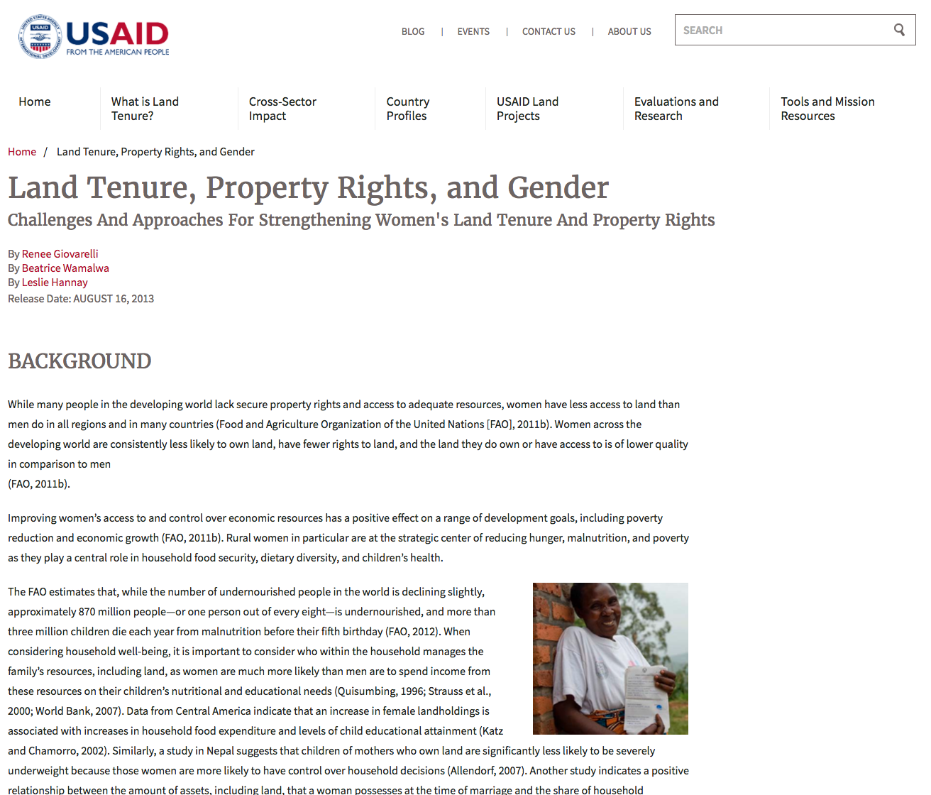 Land Tenure, Property Rights, and Gender cover
