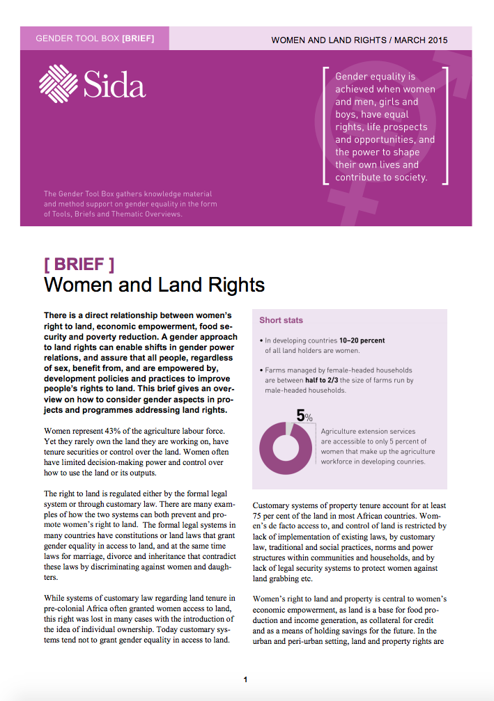 Women and Land Rights cover image