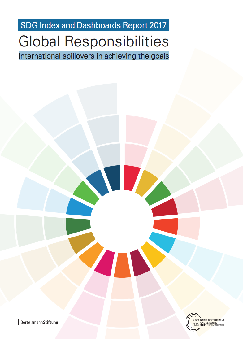SDG Index and Dashboards Report 2017 cover image
