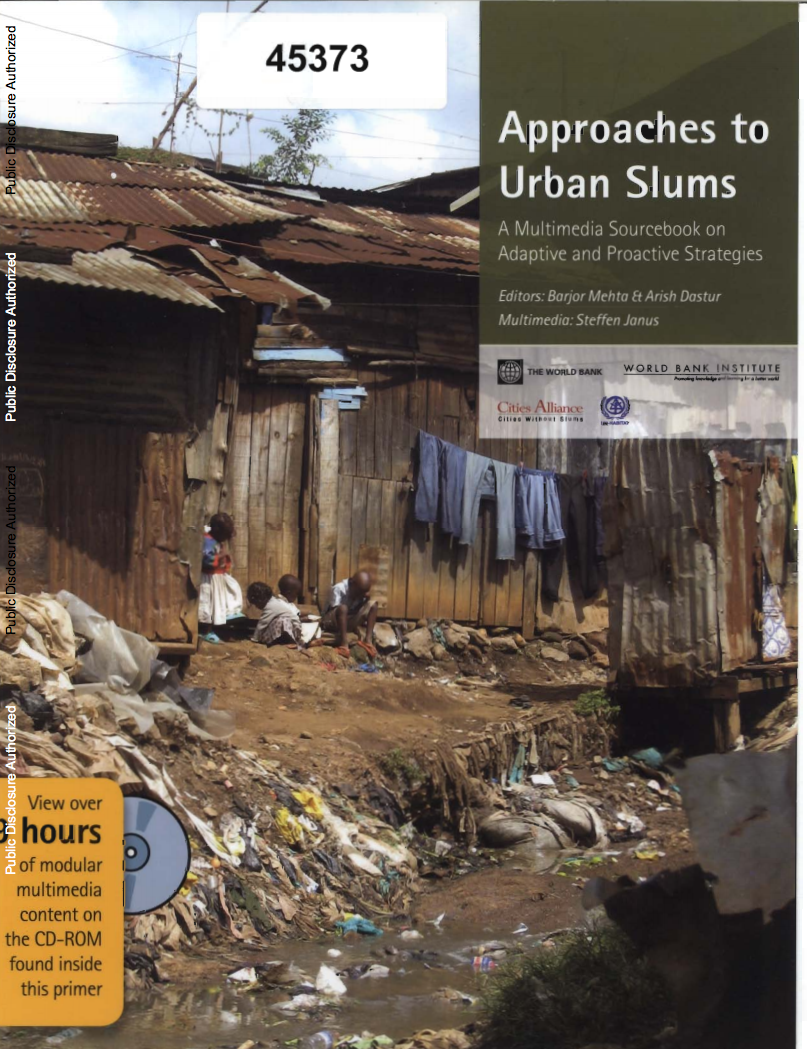 Approaches to Urban Slums : A Multimedia Sourcebook on Adaptive and Proactive Strategies cover image