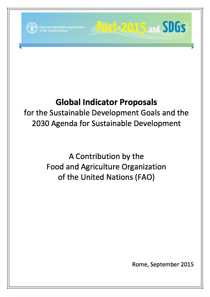 Global Indicator Proposals for the Sustainable Development Goals and the 2030 Agenda for Sustainable Development cover image