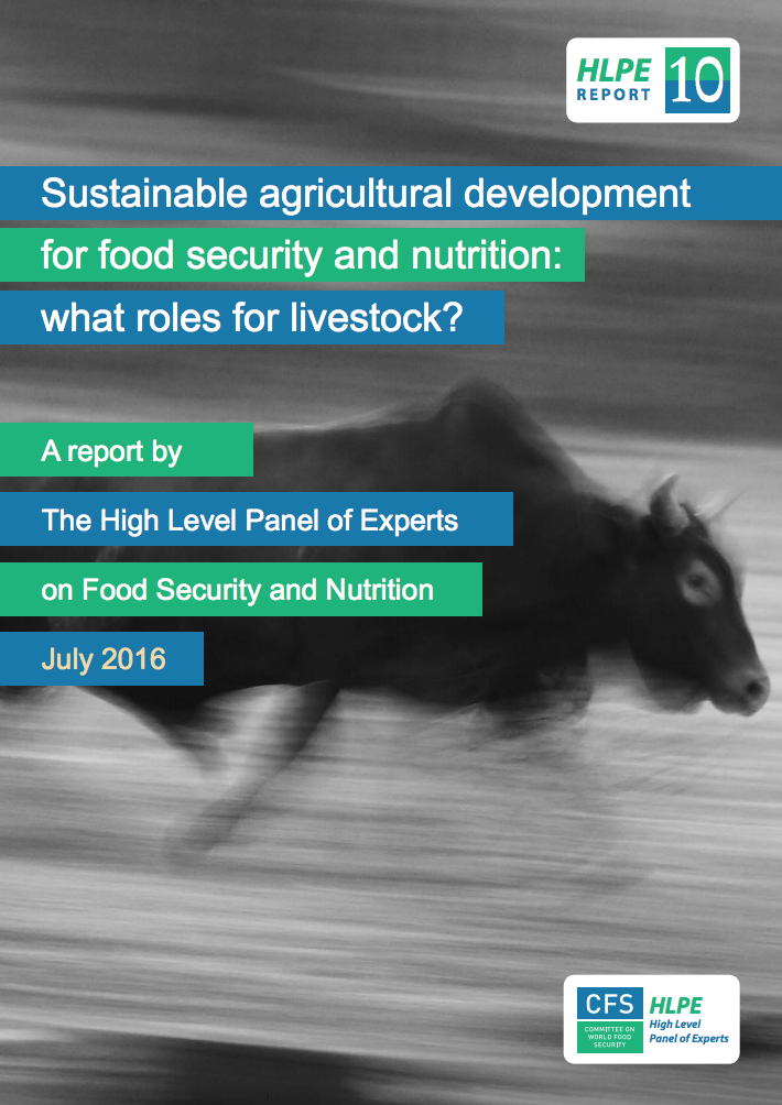 Sustainable agricultural development for food security and nutrition: what roles for livestock? cover image