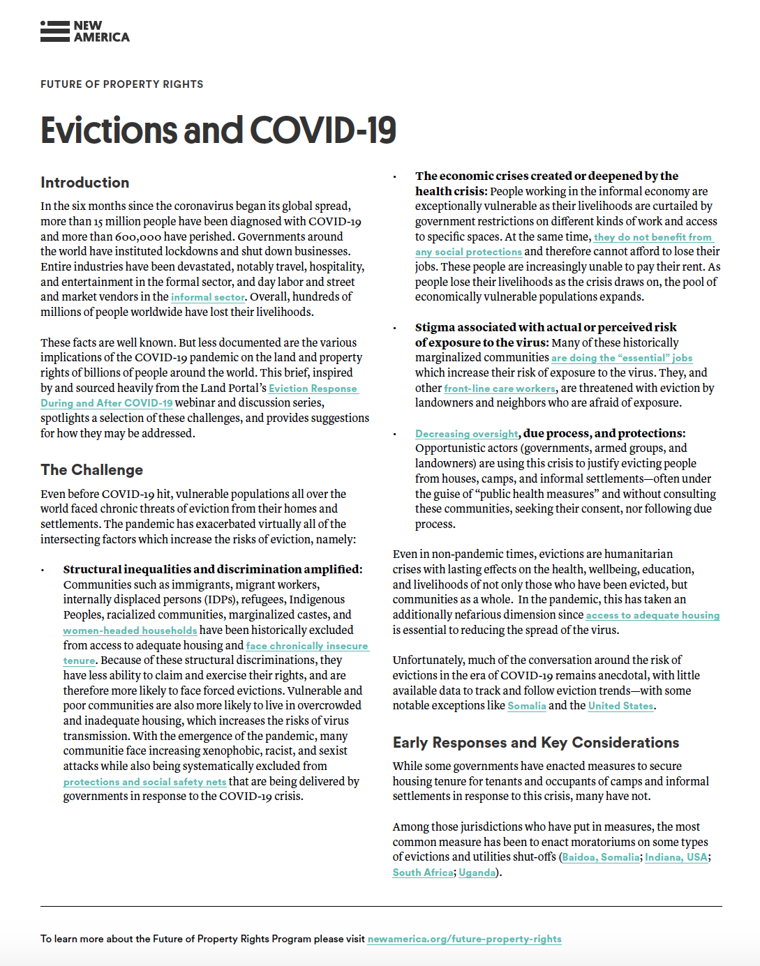 Evictions and COVID-19