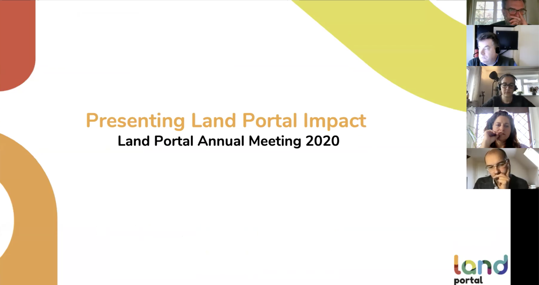 Presenting Land Portal Impact