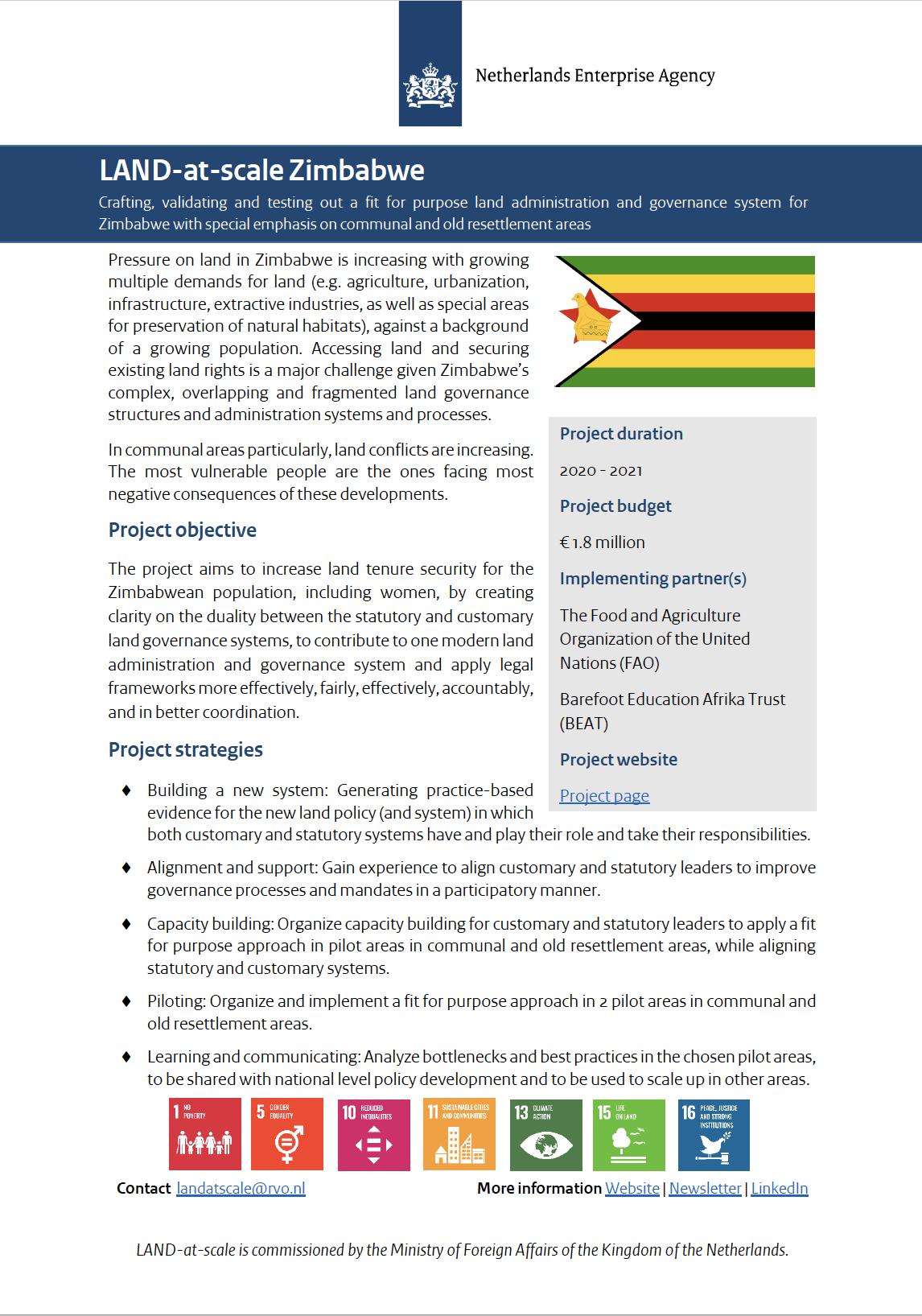 Land-at-scale Zimbabwe