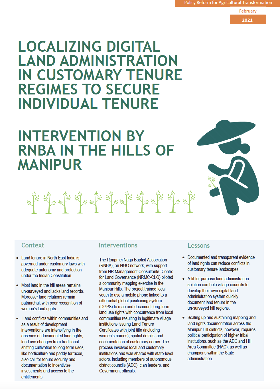 Localizing Digital Land Administration in Customary Tenure Regimes to Secure Individual Tenure