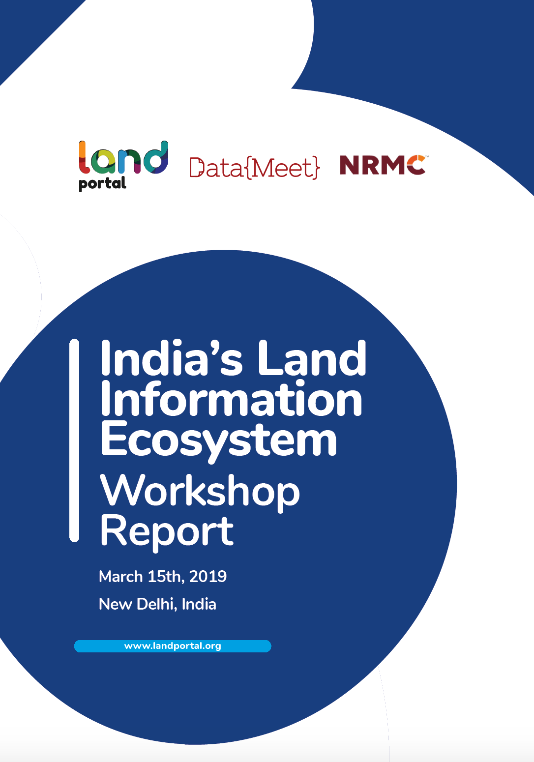 India's Land Information Ecosystem workshop report cover image