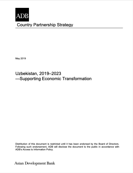 Uzbekistan: Country Partnership Strategy (2019-2023)