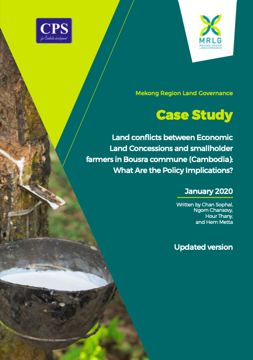 Land conflicts between Economic Land Concessions and smallholder farmers in Bousra commune (Cambodia