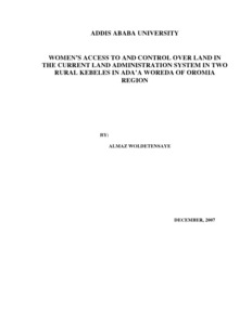 Women's access to and control over land in the current land