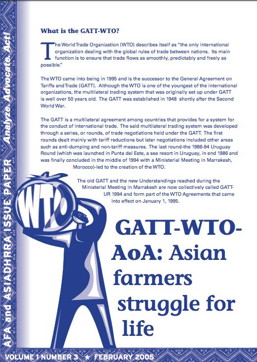 Gatt Wtoaoa Asian Farmers Struggle For Life Land Portal