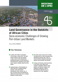 Land Governance in the Outskirts of African Cities.