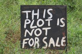This plot is not for sale