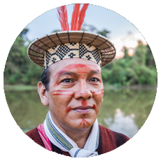 Francisco Piyako, leader of the Indigenous Ashaninka people