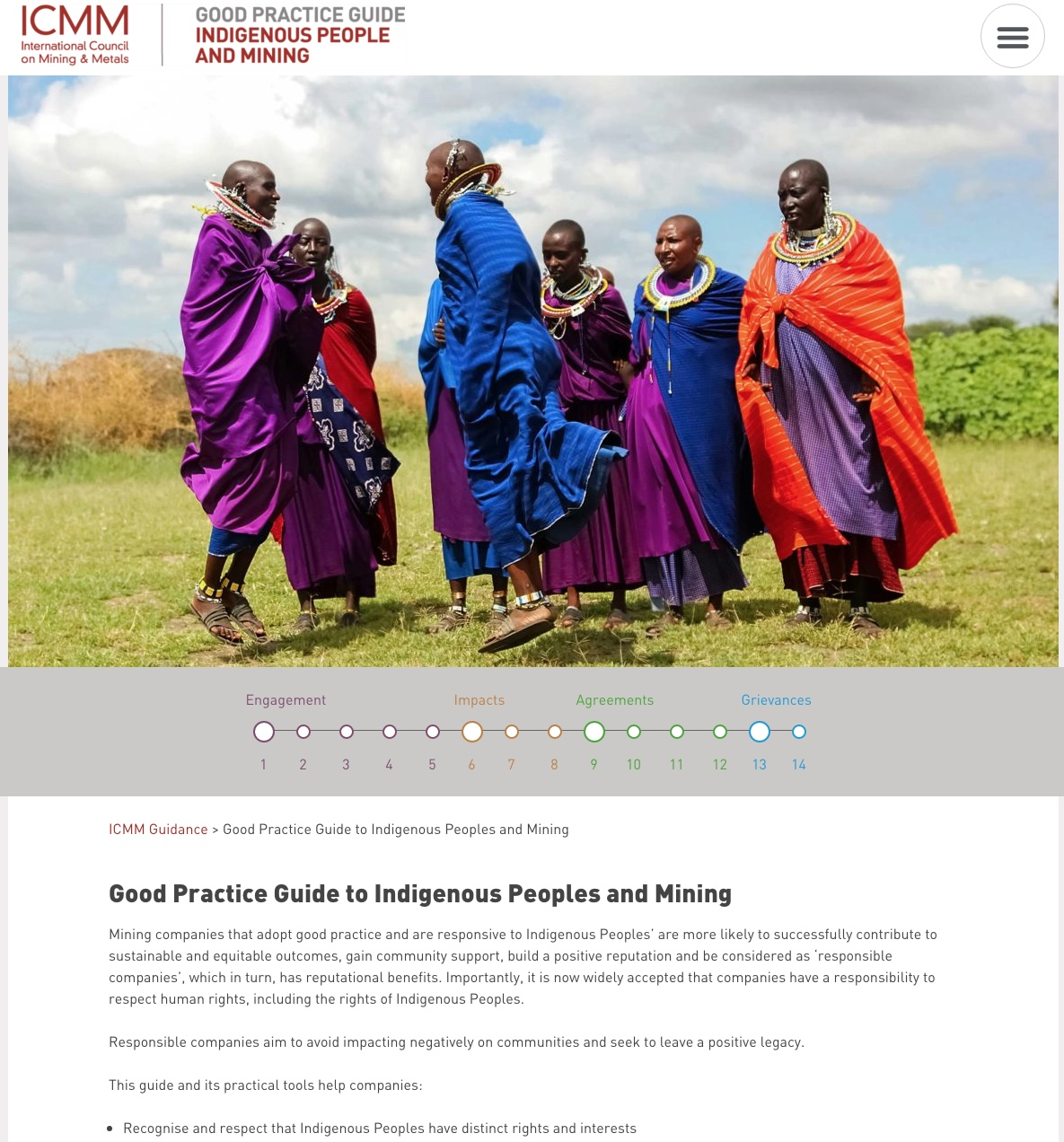 Good Practice Guide to Indigenous Peoples and Mining