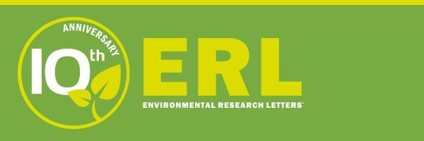 Environmental Research Letters cover image