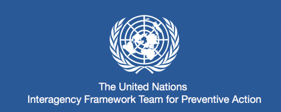 United Nations Interagency Framework Team for Preventive Action logo